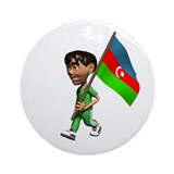 Azerbaijan Boy Ornament (Round)
