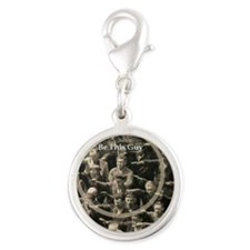 Be This Guy! Silver Round Charm