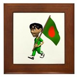 Bangladesh Boy Framed Tile