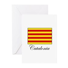 Catalonia - Flag Greeting Cards (Pk of 10)