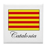 Catalonia - Flag Tile Coaster