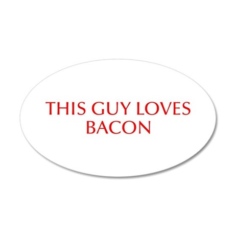 This guy loves bacon-Opt red Wall Decal