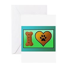 Cute Pawprint Greeting Card
