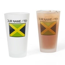 Jamaica Flag (Custom) Drinking Glass
