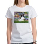Lilies (2) & Papillon Women's T-Shirt