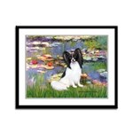 Lilies (2) & Papillon Framed Panel Print