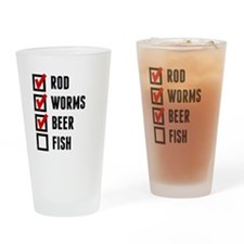 Fishing Checklist Drinking Glass
