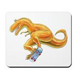 T-Rex Extreme Sport Skateboard Dinosaur Mousepad