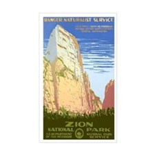 1930s Vintage Zion National Park Sticker (Rectangu