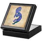 Blue Kokopelli Keepsake Box