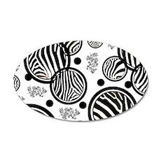 Zebra Circles White Wall Decal