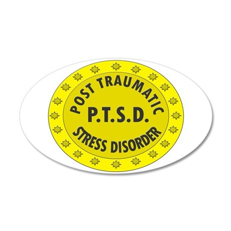 P.T.S.D. BADGES Wall Decal
