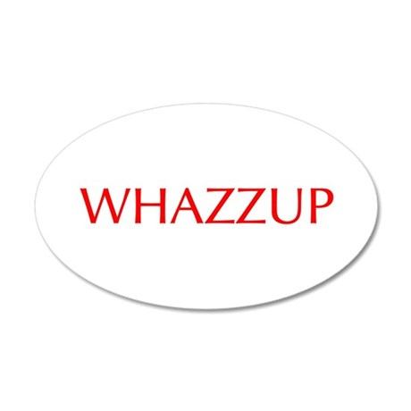 Whazzup-Opt red Wall Decal