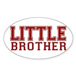 little brother varsity Oval Sticker