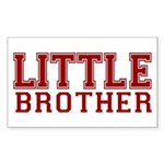 little brother varsity Rectangle Sticker