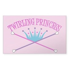 Twirling Princess Rectangle Decal