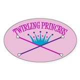 Twirling Princess Oval Decal