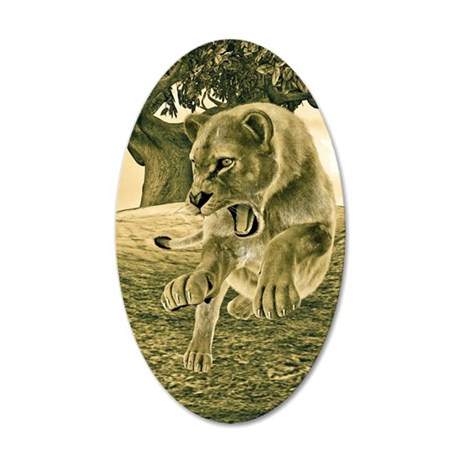 Hunting Lioness Wall Decal