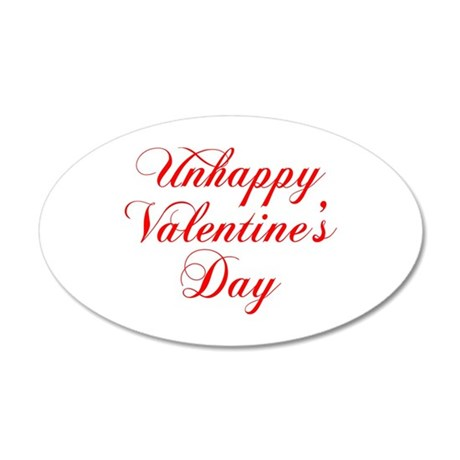 Unhappy Valentines Day-cho red Wall Decal