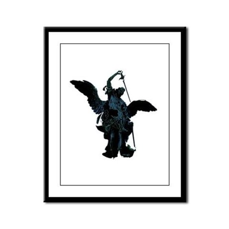 Powerful Angel Framed Panel Print