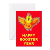 Funky Rooster Greeting Cards (6)