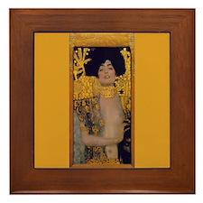 Gustav Klimt Framed Art Tile Judith & Holophernes