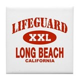 Lifeguard Long Beach Tile Coaster