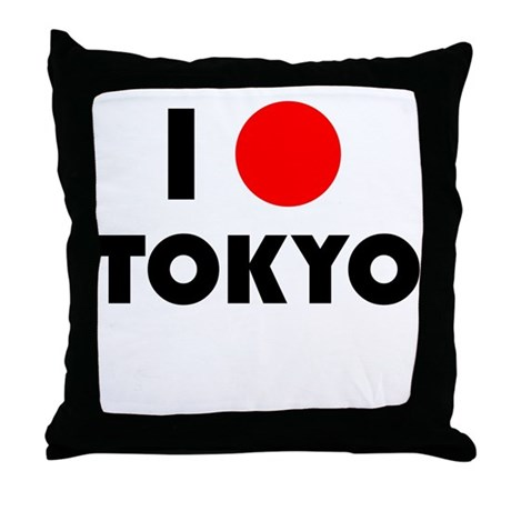 I Heart [Love] Tokyo Throw Pillow