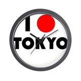 I Heart [Love] Tokyo Wall Clock
