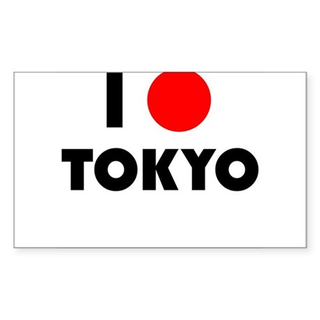 I Heart [Love] Tokyo Rectangle Sticker