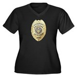 Process Server Women's Plus Size V-Neck Dark T-Shi