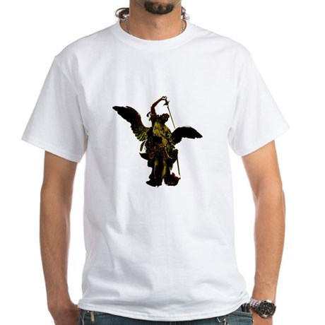 Powerful Angel - Gold White T-Shirt