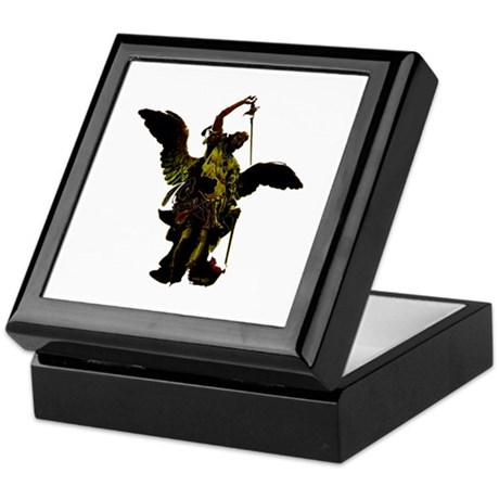 Powerful Angel - Gold Keepsake Box