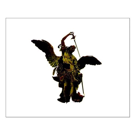Powerful Angel - Gold Small Poster