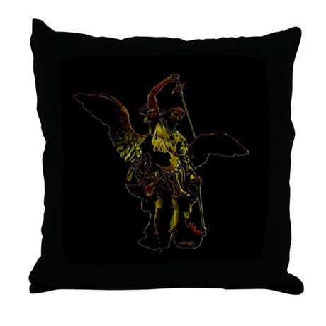 Powerful Angel - Gold Throw Pillow