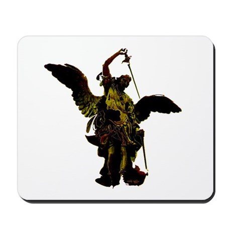Powerful Angel - Gold Mousepad