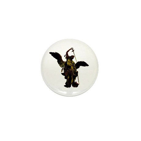 Powerful Angel - Gold Mini Button (10 pack)