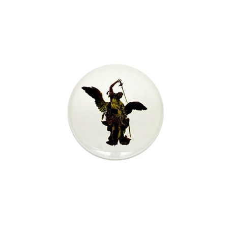 Powerful Angel - Gold Mini Button