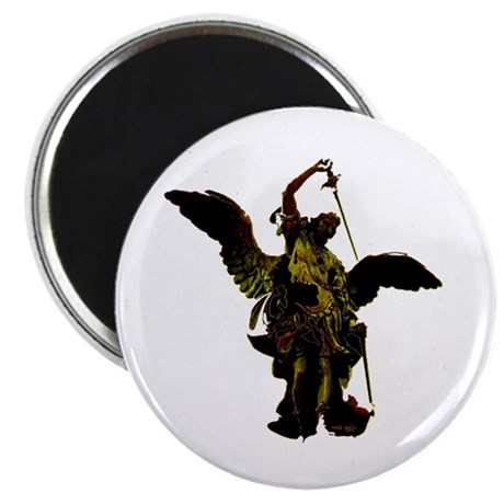 "Powerful Angel - Gold 2.25"" Magnet (10 pack)"