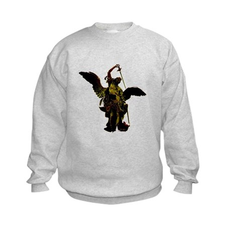 Powerful Angel - Gold Kids Sweatshirt