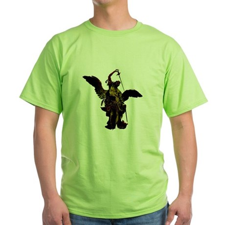 Powerful Angel - Gold Green T-Shirt