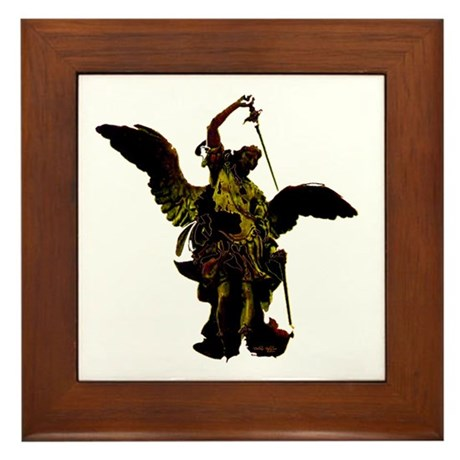 Powerful Angel - Gold Framed Tile