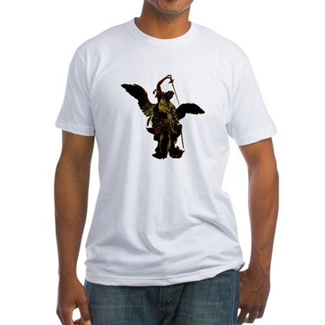 Powerful Angel - Gold Fitted T-Shirt