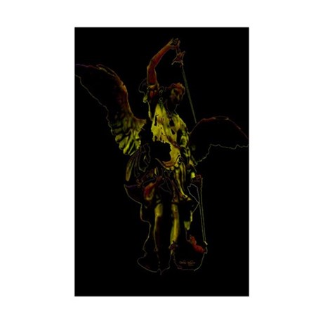 Powerful Angel - Gold Mini Poster Print