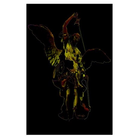 Powerful Angel - Gold Large Poster