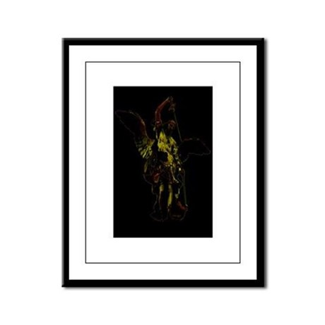 Powerful Angel - Gold Framed Panel Print