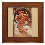 Alphonse Mucha Art Nouveau Dance Framed Tile