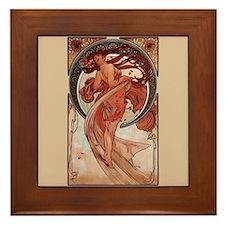 Alphonse Mucha Art Nouveau Dance Framed Tile