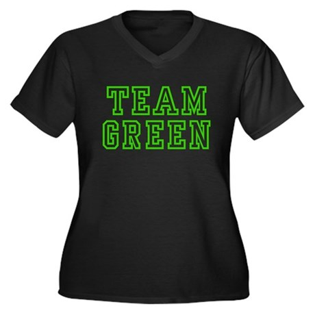 Team Green Plus Size V-Neck Shirt