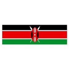 """Kenya Flag"" Bumper Bumper Sticker"